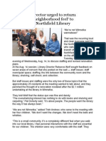 Northfield Library's Community Listening Meetings