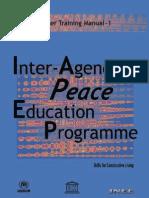 Inter Agency Peace Education Teacher Training