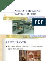 Utensilios y Terminos Gastronomicos