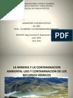 Ppt La Mineria y La Contaminaciuon Ambiental