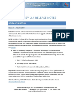 Fortis Release Notes
