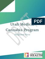 Utah Medical Cannabis Program Proposed Fee Schedule