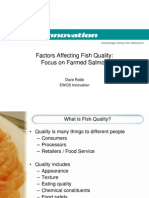 Factors Affecting Fish Quality Focus on Farmed Salmon