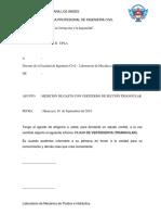 Mfh - Medición de Gasto Con Vertedero Triangular (1)