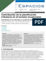 Caso de Planificación Trbutaria en Turismo_Revista Espacios