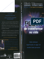 El Poder de Transformar Su Vida - Rick Warren By