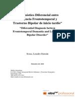 Diagnostico diferencial demencia fronto temporal y TAB tardío