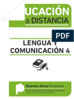 EDUCACIÓN A DISTANCIA - Lengua y Comunicación 4