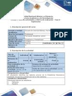 ESTADISTICA Guía de Actividades y Rúbrica de Evaluación - Fase 0 - Exploración