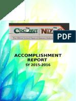 2016 the Coconut Accomplishment Report