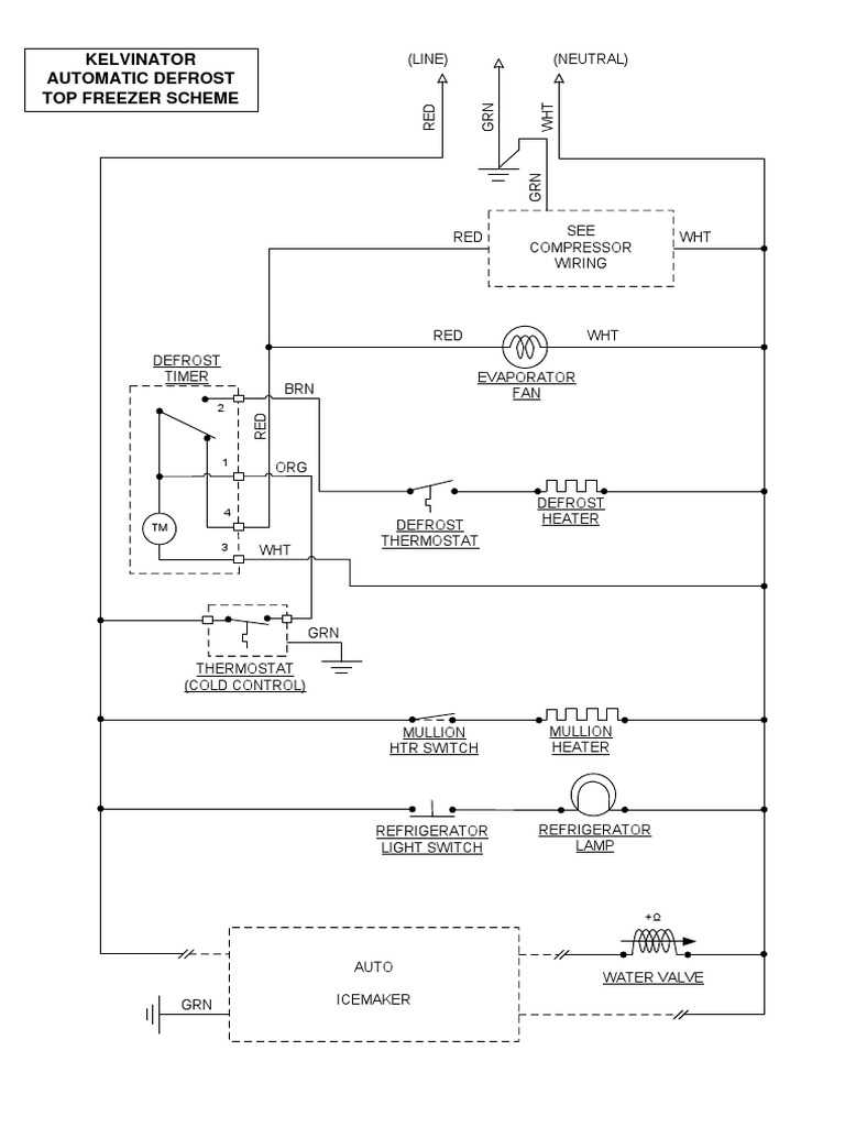 Kelvinator No Frost Wiring Diagram   Refrigerator   Engineering ...