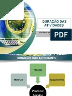 2013-1. Aula 5 - Duracao Das Atividades
