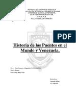 Historia de Los Puentes en El Mundo y Venezuela