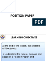 Lecture Position Paper Ppt