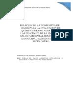 Relacion de La Normativa de Bases Para La Evaluacion de Quimicos de Uso Agricola en Las Funciones de La Unidad de Salud Ambiental Ocupacional e Inocuidad Alimentaria Del Sedes Oruro