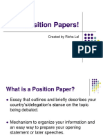 Step by Step Position Papers