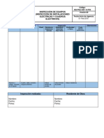 Inspeccion de Equipos (Inspeccian de Instalaciones Eléctricas y Cuadros Eléctricos)