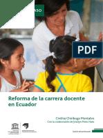 Estudio de Caso - La Reforma de La Carrera Docente en Ecuador Chiriboga Pinto - IIPE UNESCO 2019
