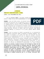 Carta Notarial Para Liz Durand