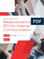 Research Report 2019 Measurement and ROI for Internal Communications
