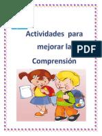 Actividades Para Mejorar La Comprensión.