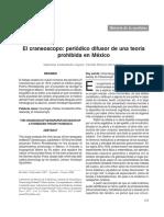 El craneoscopio; periodico difusor de una teoria prohibida en México