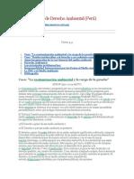 Casos y Temas de Derecho Ambiental