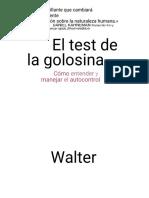 Walter Mischel. El Test de La Golosina
