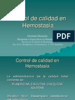control de calidad de hemostasia