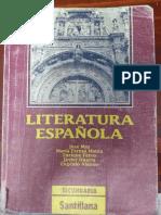 Literatura Española Santillana Secundaria - 1992