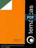 Revista Temáticas - Sociologia, Artes e Tecnociências