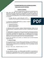 Determinacion Argentometrica de Cloruros en Suero