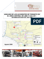 Analisis de Los Accidentes de Transito en El Area Central de Lima y Callao