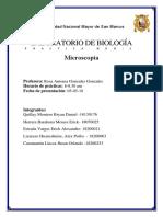 Laboratorio de biología informe No*1