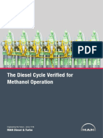 The Diesel Cycle Verified for Methanol Operation