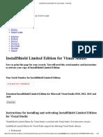 InstallShield Limited Edition for Visual Studio - Intergrupo