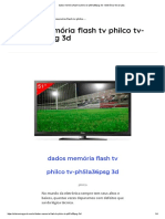 Dados Memória Flash Tv Philco Tv-ph51a36psg 3d - Eletrônica Geral Ltda