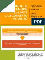 2.1 Límite, Concepto Intuitivo