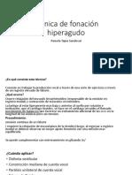 Técnica de Fonación Hiperagudo by Pamela Tapia