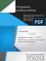 1.7 Progresión Geométrica Infinita