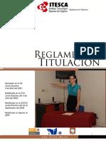 REGLAMENTO DE TITULACIÓN ITESCA