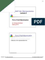 Lecture 2-Firms' Profit Maximization