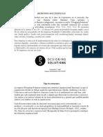 Designing Solutions Sas 1era Entrega