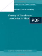 Theory of Nonlinear Acoustics in Fluids - Enflo B. O., Hedberg C. M., Enflo B. O.pdf