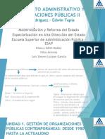 Pensamiento Administrativo y Organizaciones Publicas 2