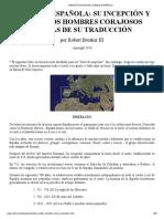 Breve Historia de La Biblia Española