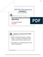 Lecture 5-Government Debt and Ricardian Equivalence