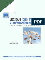 Lexique environnement