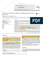 A review of electrical burns admitted in a Philippine Tertiary Hospital Burn Center