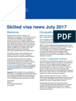 Skilled Visa News - July 2017